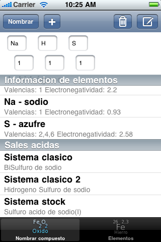 Image of Nomenclatura química inorganica for iPhone